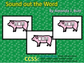 Sound Out the Word (beginning, middle, final - CVC) First Grade; Special Needs