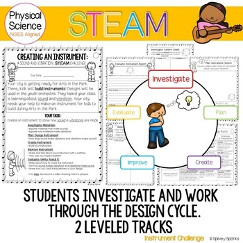 Sound- Pitch and Volume Create an Instrument STEAM & STEM NGSS 1-PS4-1