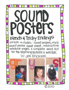 Sound Posters:  Blends and Tricky Endings