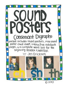 Sound Posters:  Consonant Digraphs