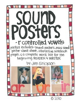 Sound Posters:  -R Controlled Vowels