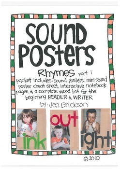 Sound Posters:  Rhymes (part 1)