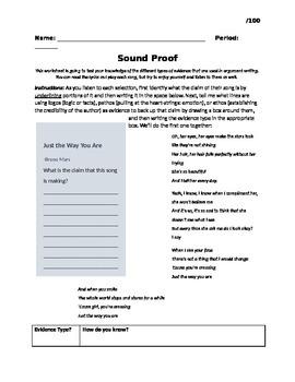 Sound Proof (Argument Evaluation: Logos, Pathos, Ethos)