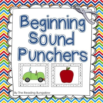 Sound Punchers - Beginning Sound Hole Punch Cards (Great for DIBELS - FSF)