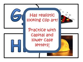 Beginning Sounds Literacy Centers Puzzles