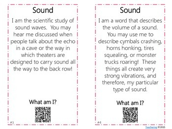 Sound Task Cards with QR Codes