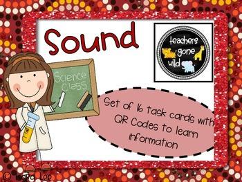 Sound QR Code Task Cards - Set of 16
