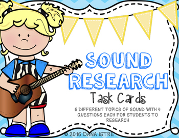 Sound Research Task Cards