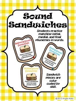 Sound Sandwiches- Beginning, Middle, & Ending Sound Discrimination