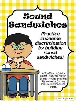 Sound Sandwiches- Beginning, Middle, & Ending Sound Discri