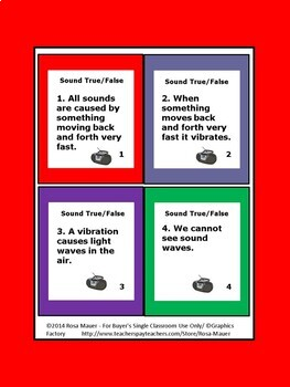 Sound and Sound Waves Task Cards and Worksheets