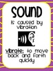 Sound Science Unit - Posters, Vocabulary, Sorting Activity, Pitch Experiment