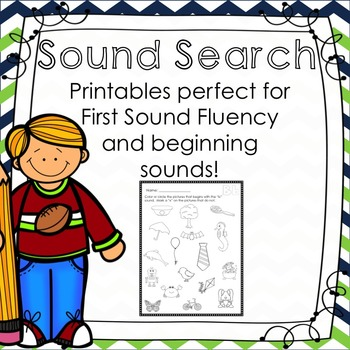 First Sound Fluency Sound Search - Great for DIBELS/AIMSWEB
