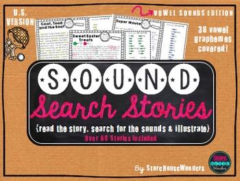 Sound Search Stories - Vowel Edition {U.S Version}
