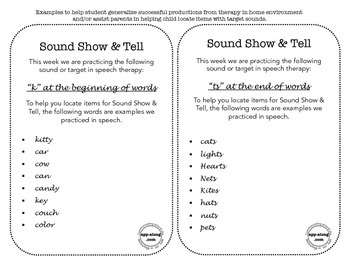 Sound Show and Tell