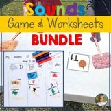 Beginning Sound Rhyming Game and Worksheets BUNDLE