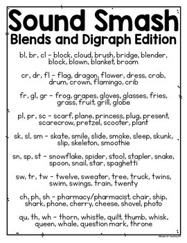 Sound Smash Games Blends and Digraphs Edition