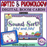 BOOM CARDS Speech Therapy Sound Sort CH & SH - Teletherapy