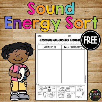 Sound Energy Sort, Forms of Energy Worksheet {K, 1, 2}