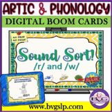 BOOM CARDS Speech Therapy Sound Sort R & W  Articulation - Teletherapy