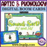 BOOM CARDS Speech Therapy Sound Sort T & D Articulation - Teletherapy