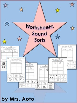 Sound Sort Worksheets (A to Z)