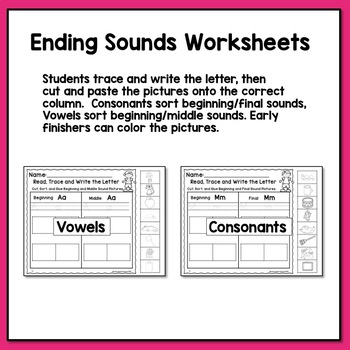 Ending Sound Worksheets