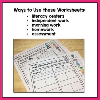 Ending Sound Worksheets By Maureen Prezioso Teachers Pay Teachers