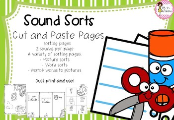 Sound Sorting Cut and Paste Activities