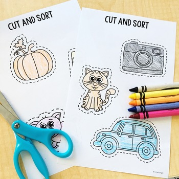 Sound Sorting Fine Motor Pages