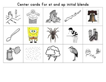 Sound Sorting St and Sp Blends