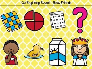 Sound Sorts: Beginning Sounds Set Eleven: Best Friends Q&U