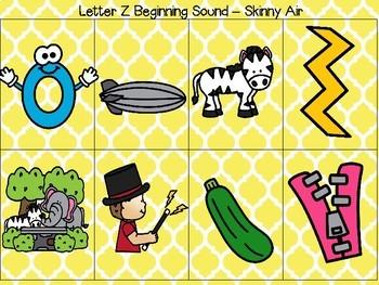 Sound Sorts: Beginning Sounds Set Five: Skinny Air S&Z