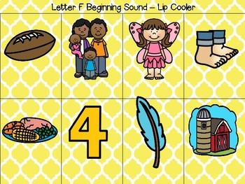 Sound Sorts: Beginning Sounds Set Four: Lip Coolers F&V