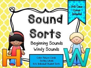 Sound Sorts: Beginning Sounds Set Eight: Windy Sounds H&W