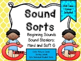 Sound Sorts: Beginning Sounds Set Thirteen: Sound Stealers #2 Hard G & Soft G