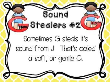 Sound Sorts: Beginning Sounds Set Thirteen: Sound Stealers #2 Hard G & Soft G