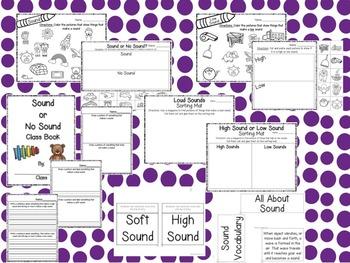 Sound: Sound/No Sound, Loud/Soft, High/Low: A Science Unit