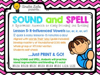Sound + Spell: Lesson 5 Set R-Influenced Vowels
