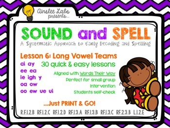 Sound + Spell: Lesson 6 Set Long Vowel Teams
