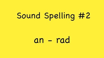 Sound Spelling #2 (an - rad) 30 Words - Reading with Phonics m4v Kathy Troxel
