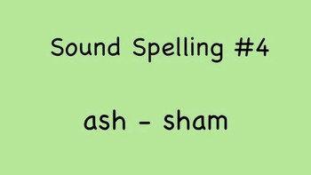 Sound Spelling #4 (ash-sham) 30 Words - Reading with Phonics mp4 Kathy Troxel