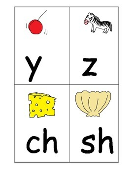 Alphabet Picture Cards: Letters Beginning Sounds 31 sounds