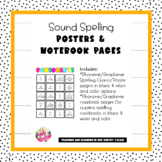 Sound Spelling Posters and Notebook Charts