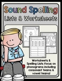 Sound Spelling Worksheet Pack