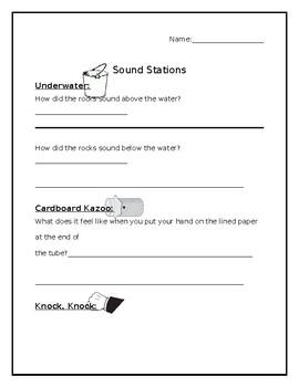 Sound Station Worksheet