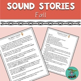 Sound Stories for Fall: sound-loaded stories w/ comprehension questions, speech