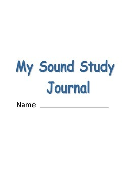 Sound Study Cover Page