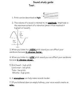 Sound Study Guide