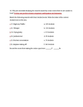 Sound Study Jams Worksheet